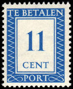 Netherlands 1947 11c Postage Due unmounted mint.