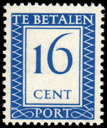 Netherlands 1947 16c Postage Due unmounted mint.