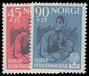 Norway 1960 Refugees unmounted mint.