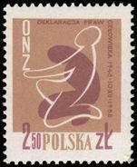 Poland 1958 Human Rights unmounted mint.