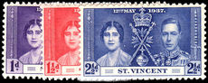 St Vincent 1937 Coronation set unmounted mint.
