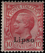 Lipso 1912-21 10c rose-red lightly mounted mint.
