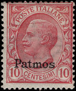 Patmos 10c rose-red lightly mounted mint.