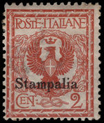 Stampalia 1912-21 2c orange-brown lightly mounted mint.