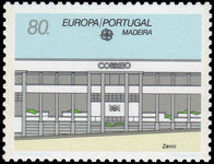 Madeira 1990 Europa. Post Office Buildings unmounted mint.