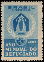 Brazil 1960 World Refugee Year unmounted mint.