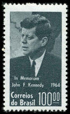 Brazil 1964 Pres. J F Kennedy unmounted mint.