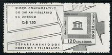 Brazil 1966 UNESCO Souvenier Sheet unmounted mint.