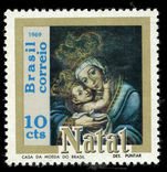 Brazil 1969 Christmas Madonna and Child unmounted mint.