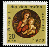 Brazil 1970 Mothers Day Madonna and Child unmounted mint.