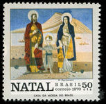 Brazil 1970 Christmas Holy Family unmounted mint.
