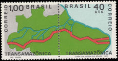 Brazil 1971 Trans Am Highway pair unmounted mint.