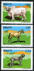 Brazil 1974 Domestic Animals unmounted mint.