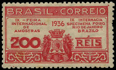 Brazil 1936 Sample Fair lightly hinged mint.