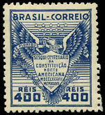 Brazil 1937 US Constitution lightly hinged mint.