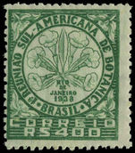 Brazil 1939 Botanical Congress lightly mounted mint.