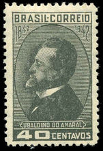 Brazil 1943 Ubaldino do Amaral lightly hinged mint.