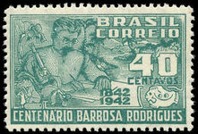 Brazil 1943 Barbosa Rodrigues fine lightly mounted mint.
