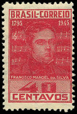 Brazil 1945 Manoel da Silva lightly hinged mint.