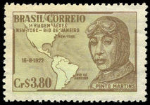 Brazil 1951 First Rio-NY Flight unmounted mint.