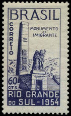 Brazil 1954 Immigrants Monument unmounted mint.