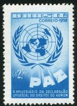 Brazil 1958 Human Rights unmounted mint.