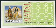Brazil 1970 Christmas souvenir sheet unmounted mint.
