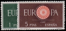 Spain 1960 Europa. 1st Anniv of European Postal and Telecommunications Conference unmounted mint.