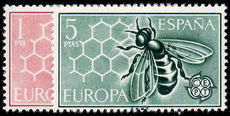 Spain 1962 Europa Honeybees unmounted mint.