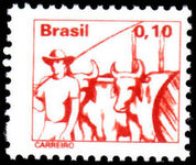 Brazil 1976-79 10c Ox-cart driver unmounted mint.
