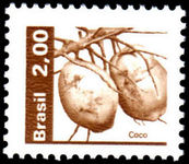 Brazil 1980-85 2cr coconuts unmounted mint.