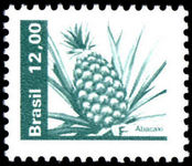Brazil 1980-85 12cr Pineapple unmounted mint.