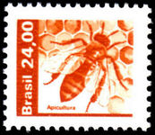Brazil 1980-85 24cr Honey Bees unmounted mint.