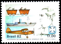 Brazil 1982 Henrique Lage HL-1 Airplane unmounted mint.