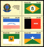 Brazil 1982 State Flags unmounted mint.