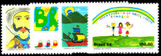 Brazil 1984 Childrens Paintings unmounted mint.