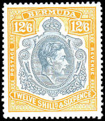 Bermuda 1938-53 12/6d grey and pale orange perf 13 unmounted mint.
