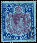 Bermuda 1938-53 2/- deep purple & ultramarine on grey-blue good used.
