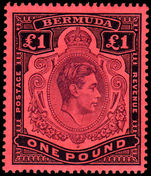 Bermuda 1938-53 £1 deep reddish purple & black on pale red unmounted mint.