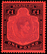 Bermuda 1938-53 £1 violet & black on scarlet perf 13 unmounted mint.