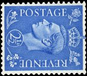 1941-42 2½d light ultramarine sideways watermark unmounted mint.