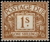 1951-52 1s postage due lightly mounted mint.