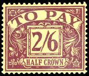 1955-57 2s6d purple on yellow postage due lightly mounted mint.