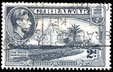 Gibraltar 1940 2d grey scarce perf 13½ sideways watermark fine used.