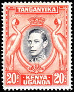 Kenya Uganda & Tanganyika 1938-54 20c perf 14 fine mint lightly hinged.