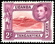 Kenya Uganda & Tanganyika 1938-54 2/- perf 14 fine mint lightly hinged.