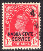 Nabha 1938 1a carmine official fine used.