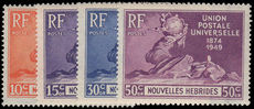 French New Hebrides 1949 UPU fine lightly mounted mint.