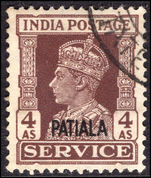 Patiala 1939-44 4a official fine used.