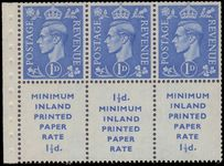1952 3d booklet pane unmounted mint.